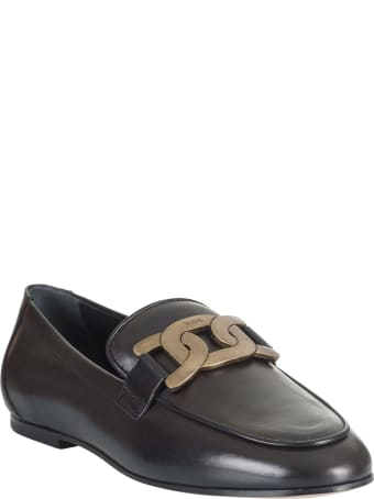 Tod's Metal Logo Plaque Loafers