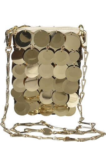 Paco Rabanne Metallic Long Embellished Shoulder Bag