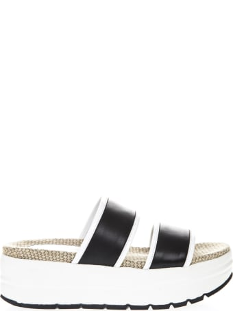 Voile Blanche Two Tone Zoe Leather Sandal