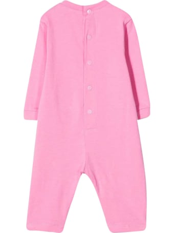 MSGM Pink Romper With White Print