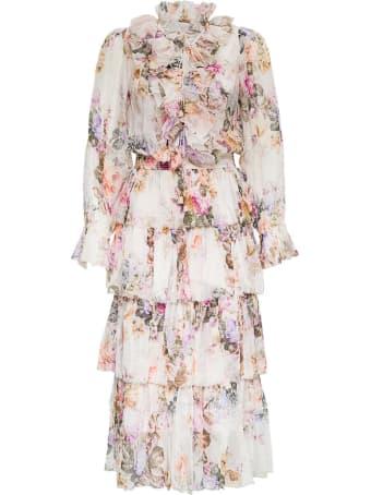 Zimmermann Zella Floral Silk Long Dress