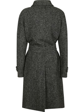 Alberta Ferretti Tie-waist Patterned Coat