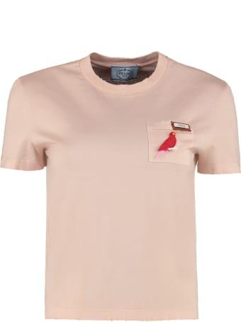 Prada Crew-neck Cotton T-shirt