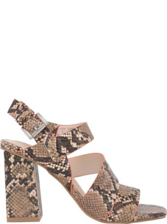 Kendall + Kylie Natural Printed Python Sandals