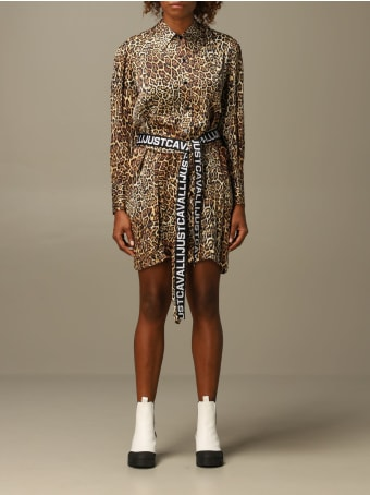 Just Cavalli Dress Just Cavalli Animal Print Chemisier Dress