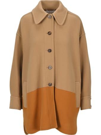 Chloé Chloe' Two Tone Single Breasted Coat
