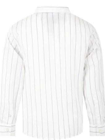 Armani Collezioni White Shirt For Boy With Eagle