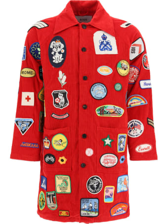 Bode Coat With Vintage Multi Patch