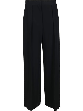 The Row Black Viscose-blend Trousers