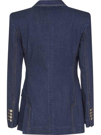 Dolce & Gabbana Crystal Embellished Denim Blazer