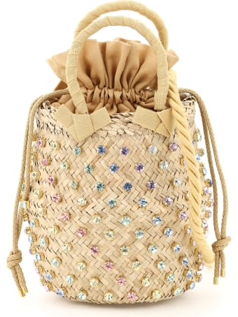 Le Niné Nina Small Basket Bag S2-36572 Crystal Rainbow Pastel