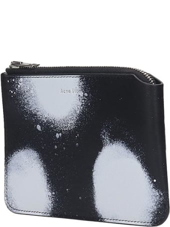 Acne Studios Malachite S Dot Wallet In Black Leather