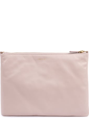 Coccinelle Soft Pink Lather Clutch