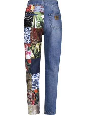 Dolce & Gabbana Multi-patched Denim Jeans
