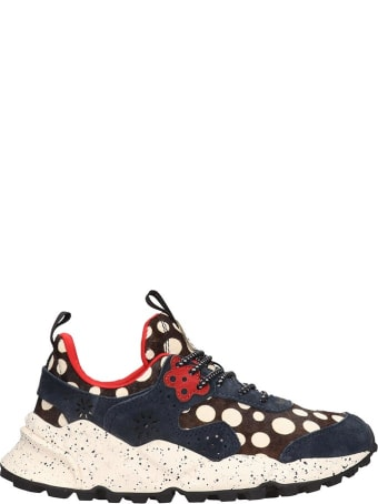 Flower Mountain Kotetsu Sneakers In Blue Tech/synthetic