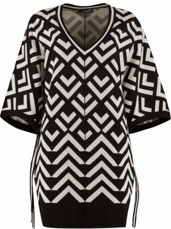 'S Max Mara Efedra Knitted Viscosa-blend Top