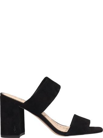 Sam Edelman Black Suede Delaney Sandals