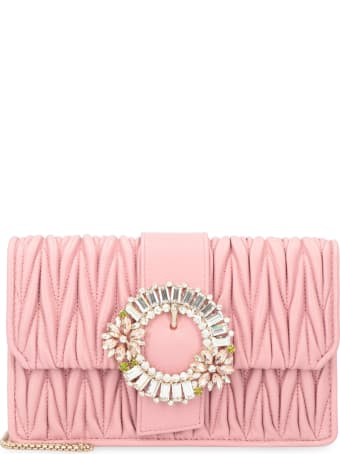 Miu Miu Miu Lady Quilted Leather Clutch