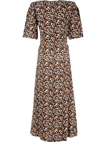 Les Coyotes De Paris V-neck Printed All-over Dress