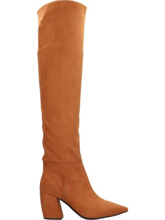 Jeffrey Campbell Final Slch Boots In Leather Color Suede