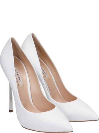 Casadei Pumps In White Leather