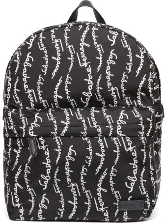 Salvatore Ferragamo All-over Logo Print Backpack