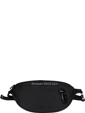 Alexander McQueen Black Canvas Belt Bag