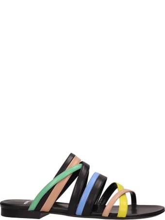 Pierre Hardy Black Leather Alpha Crisscros Sandals