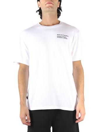 Moncler Genius White Cotton T-shirt With Fragment Staff Print