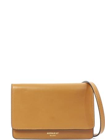 Avenue 67 Light Brown Leather Clutch Bag