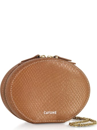 Cafuné Caramel Leather Egg Chain Shoulder Bag