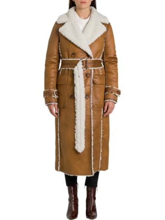 urbancode Renier Faux Shearling Reversible Trench Coat