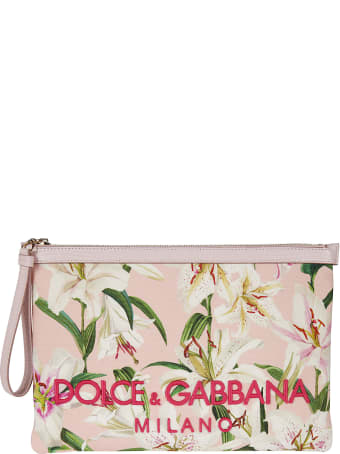 Dolce & Gabbana Embroidered Logo Clutch