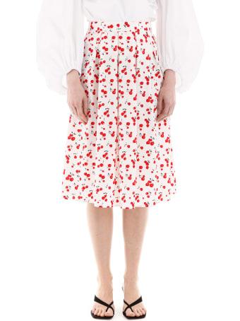 HVN Hope Cherry Print Pleated Skirt