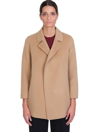 Theory Clareine Coat In Beige Wool