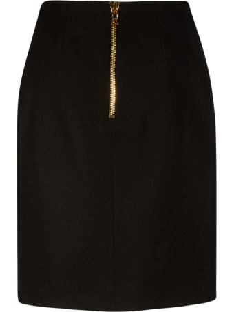 Balmain Back Zip Skirt