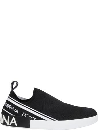 Dolce & Gabbana Logo Slip-on Sneakers