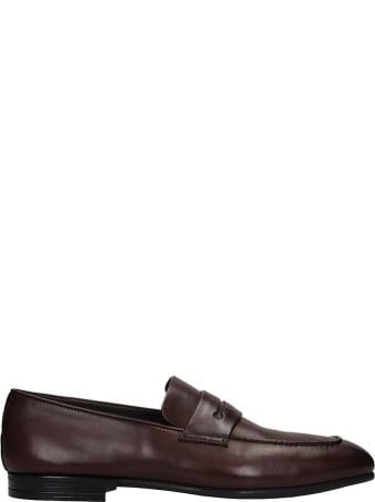 Ermenegildo Zegna Loafers In Brown Leather