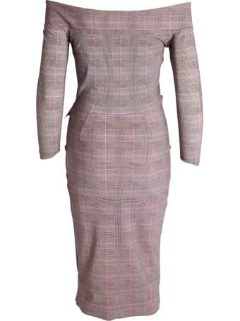 La Petit Robe Di Chiara Boni Le Petite Robe By Chiara Boni 'beth Print' Polyamide Dress