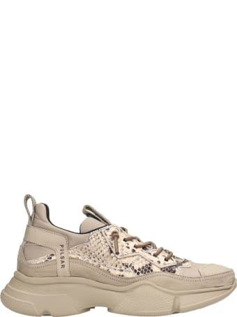 Bruno Bordese Sneakers In Beige Suede And Leather