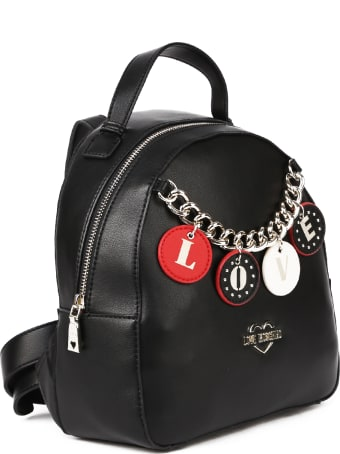 Love Moschino Mini Backpack With Charms
