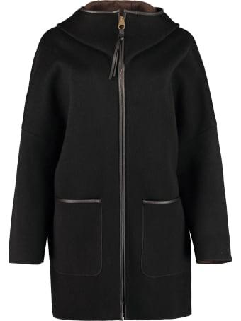 Agnona Hooded Cashmere Coat