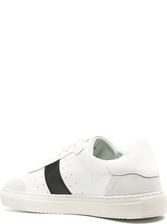 Axel Arigato White Leather Sneakers With Contrasting Panel