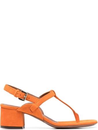 L'Autre Chose Orange Suede Sandals
