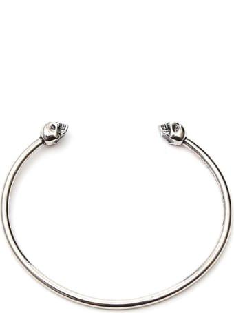 Alexander McQueen Thin Twin Skulls Bracelet