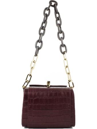the VOLON Po Cube Red Shoulder Bag
