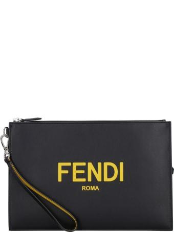 Fendi Logo Print Flat Pouch