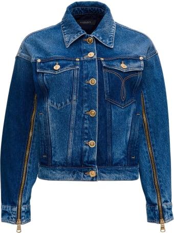 Versace Denim Jacket With Back Logo