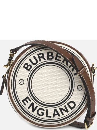 Burberry Cotton Canvas Bag With Contrasting Graphic Print