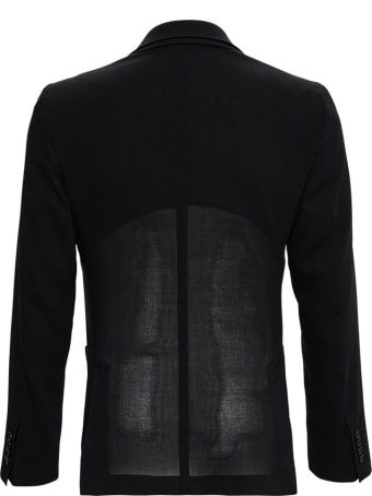 Dolce & Gabbana Single Breasted Blazer In Black Wool